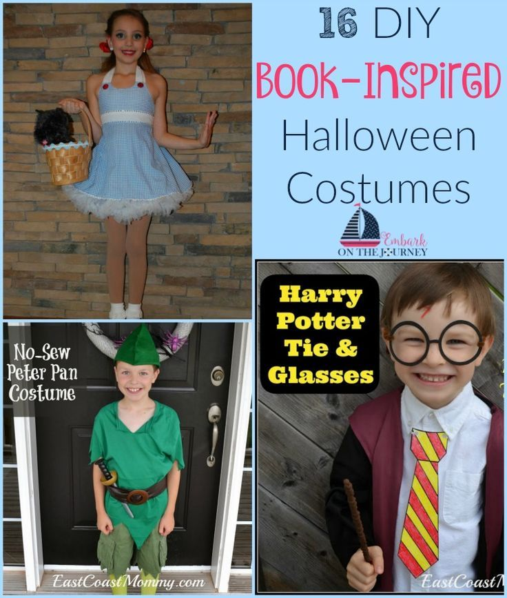 If you're looking for some last-minute costume ideas, check out these 16 DIY book-inspired Halloween costumes. | embarkonthejourne...