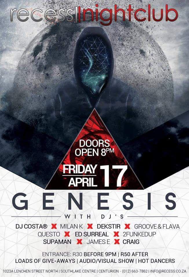 Come 17 April Ed Surreal takes over the decks at Club Recess in Pretoria.