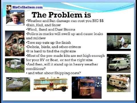 DIY Portable Carport Assembly Instructions kit. EZ and Cheap RV or Boat Shelter. Build now your own Carport and $ave.  **See: http://www.hiscoshelters.com/ #carport #portable