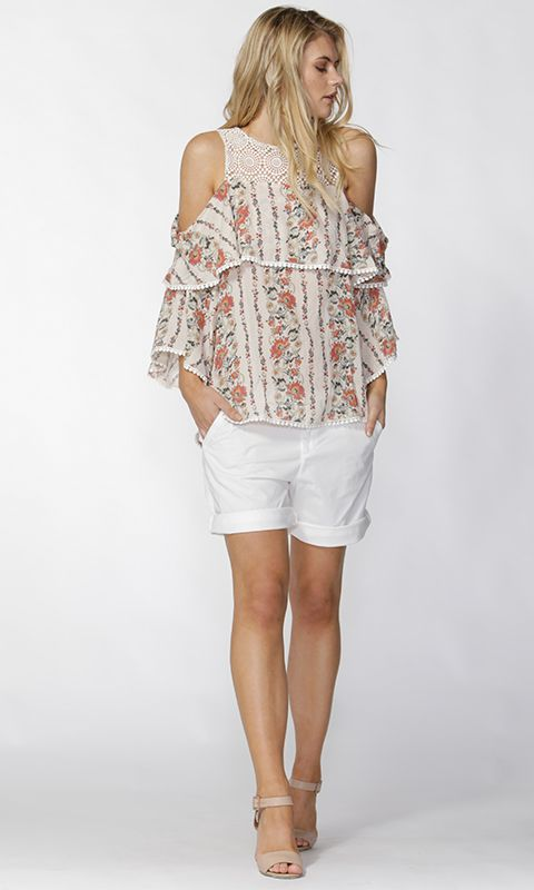 Fate - Roseella Cold Shoulders Blouse By Fate + Becker*