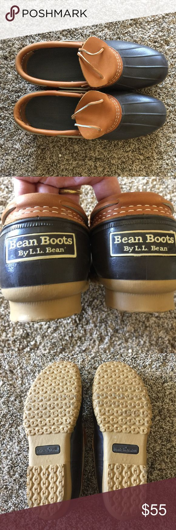 LL Bean boots - short 🌱☔️ fit like size 10 Re-posh! ✨ Like new ✨ wish these fit but they are too big for me.  LL Bean boots - short and perfect for the spring rain or garden 🌱☔️ They are marked 9 but fit more like a 10.  I would be open for trading for a size 8 too. L.L. Bean Shoes Winter & Rain Boots
