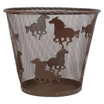 Metal Horse Waste Basket
