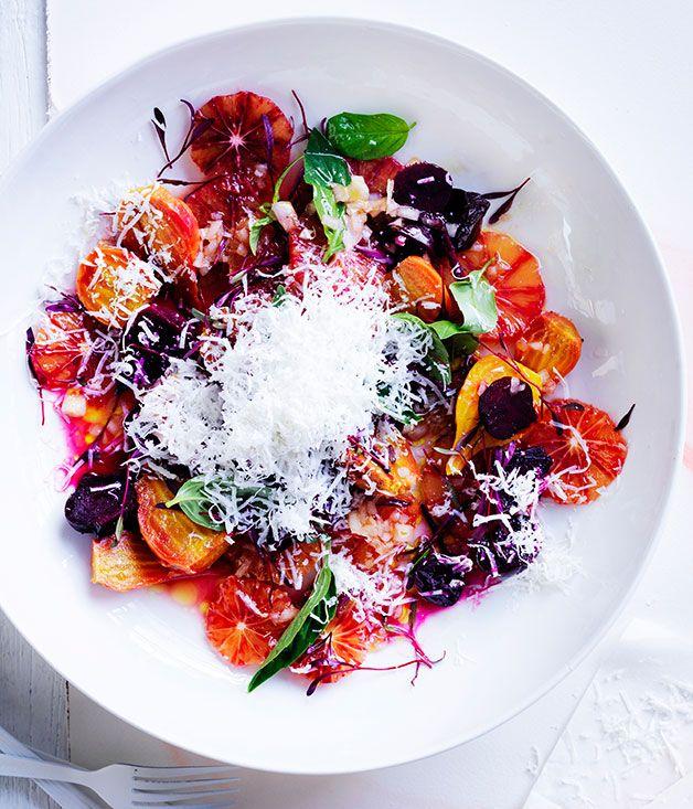 Australian Gourmet Traveller recipe for roast beetroot and blood orange salad.