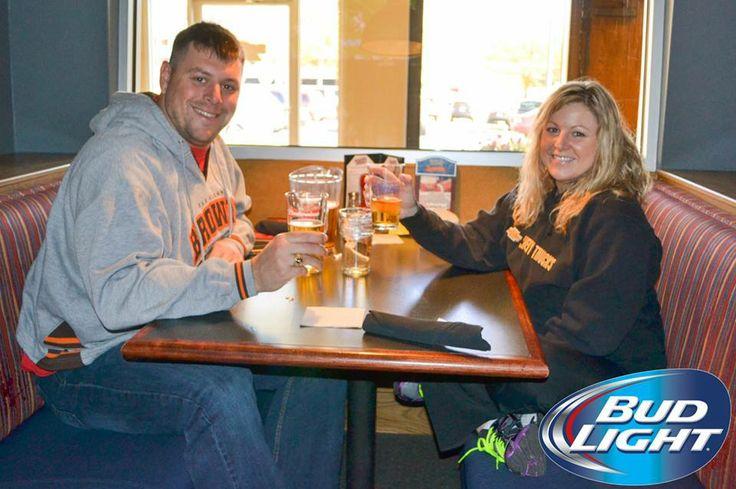 Enjoying Bud Light while watching NFL Sunday at Hurricane Bar and Grill #BudLight #HurricaneBarandGrill #BeerLovesRaleigh