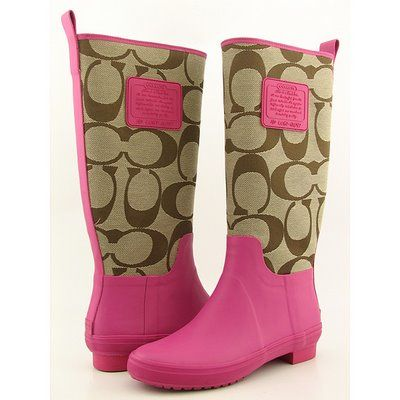 purple rainboots | Dream Artists: Coach Rain Boots