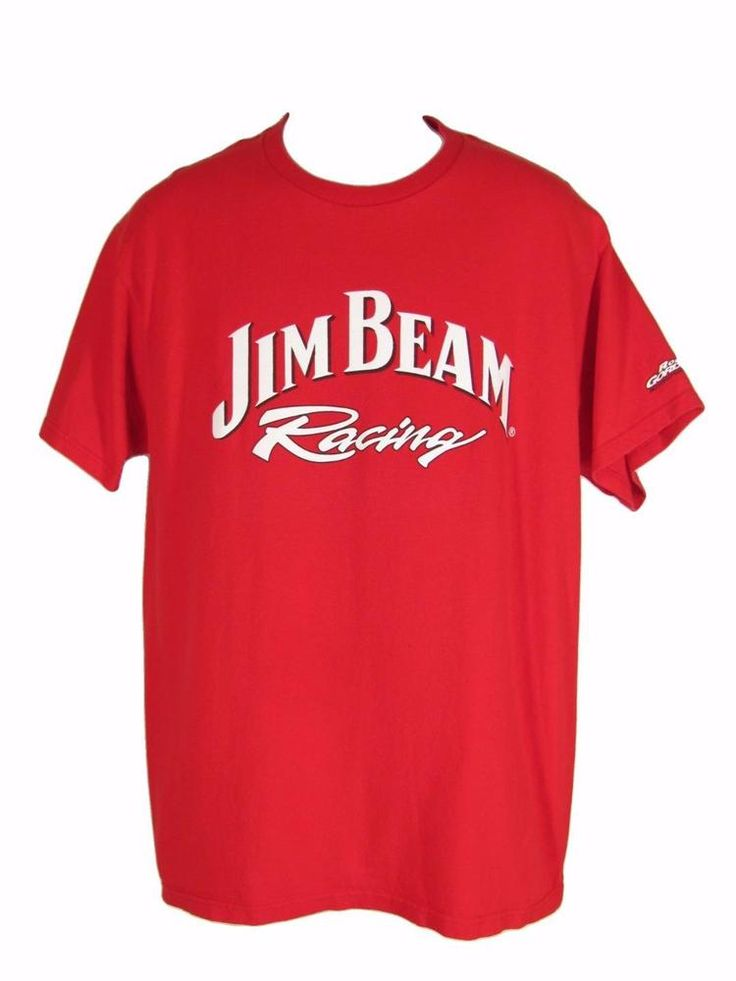 Jim Beam Racing Team T Shirt L Red Whiskey Robby Gordon Motorsports Hole…