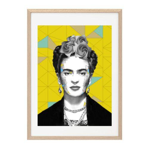 """Affiche déco à encadrer Frida Kahlo graphique - """"Frida iz back"""" - : Décorations murales par appt-41"""