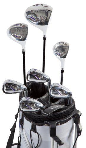 Pinemeadow Golf Women's Nitrix Pro Set Driver, 3 Wood, Hybrid, 6/7-PW Irons, Putter Bag (Right Hand)