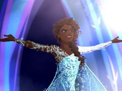 Talented fan artists imagine what a racebent Frozen film could have looked like!
