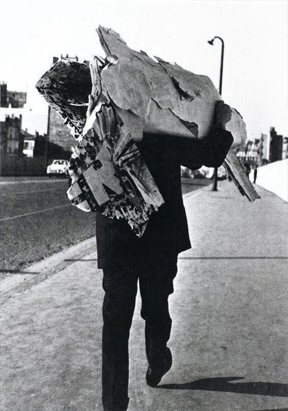 Jacques Villeglé in Paris, 14 February 1961. Photograph: Harry Shunk