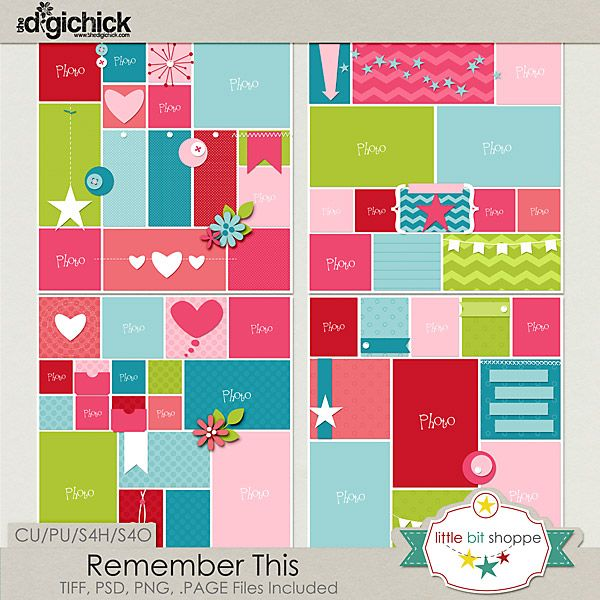 Remember This by Little Bit Shoppe Designs http://www.thedigichick.com/shop/Remember-This.html