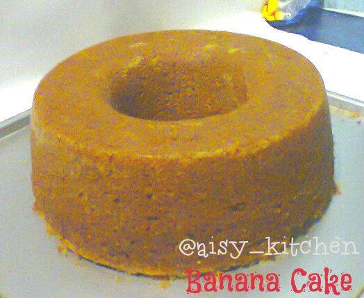 Masih dengan cake pisang...kali ini nyontek resep digrup NCC ala mba Mache yufrita.