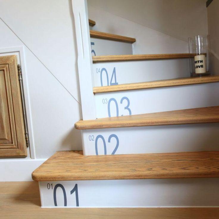 les 25 meilleures id es de la cat gorie deco escalier sur pinterest marches d 39 escalier et de. Black Bedroom Furniture Sets. Home Design Ideas
