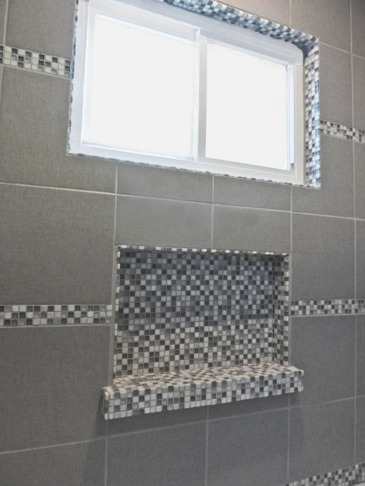 Shower Niche In Glass Mosaic Tile Nestology Interiors By