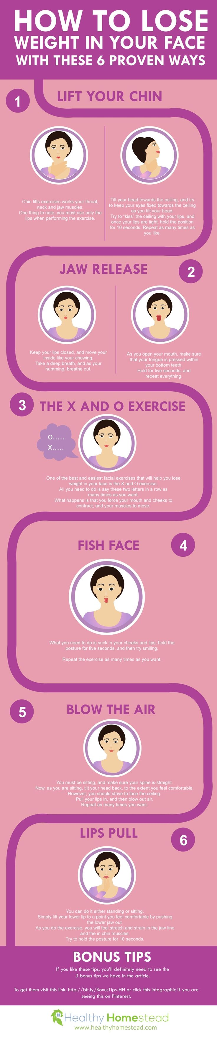 How to Lose Weight in Your Face With These 6 Proven Ways via @healthyhomestea