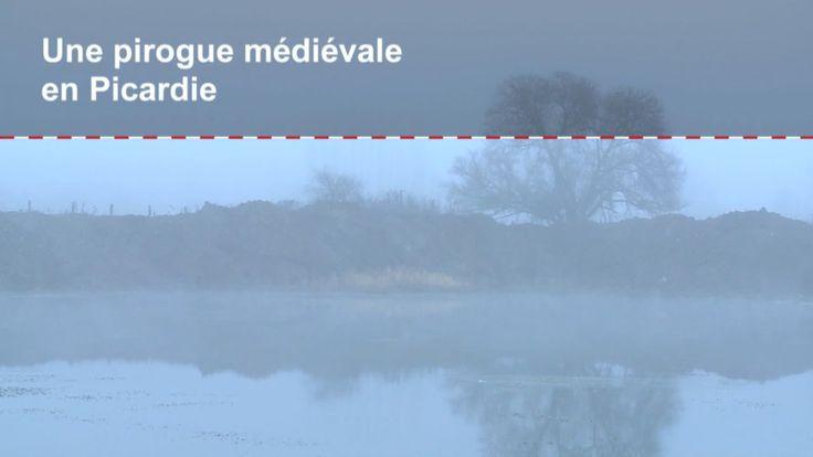 Une pirogue médiévale en Picardie. A Vendeuil l'agrandissement d'un chantier a offert aux archéologues une opportunité exceptionnelle : foui...