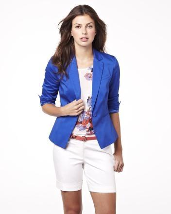 Summer 2013 Collection 3/4 sleeve blazer in cotton sateen