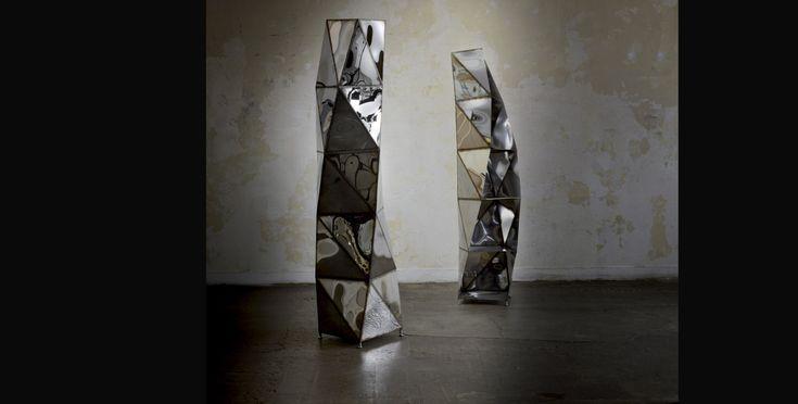 COLONNE SPIRAL (5 ÉTAGÈRES) JULIAN MAYOR 2012 - Acier soudé, finition mirroir L.54 x H.180 x P.50 cm Edition Limitée à 3 ex.  Armel Soyer Gallery