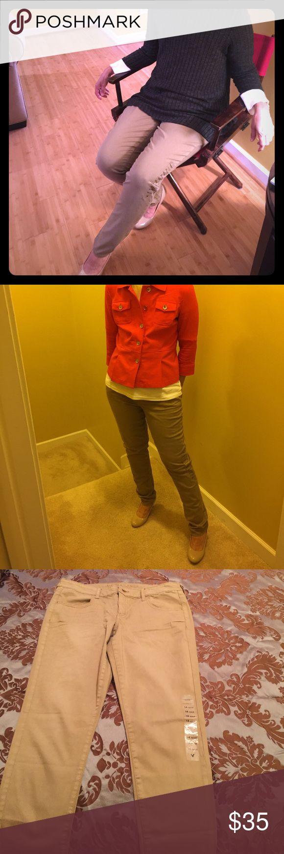 Khaki Jeggings NWT !! Super stretch American Eagle Khaki Jegging American Eagle Outfitters Jeans Skinny