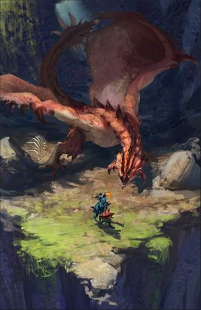 This speed-paint Rathalos scene makes a beautiful mobile wallpaper
