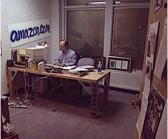 Jeff Bezos In His Office During The Early Days Of Amazon 1999