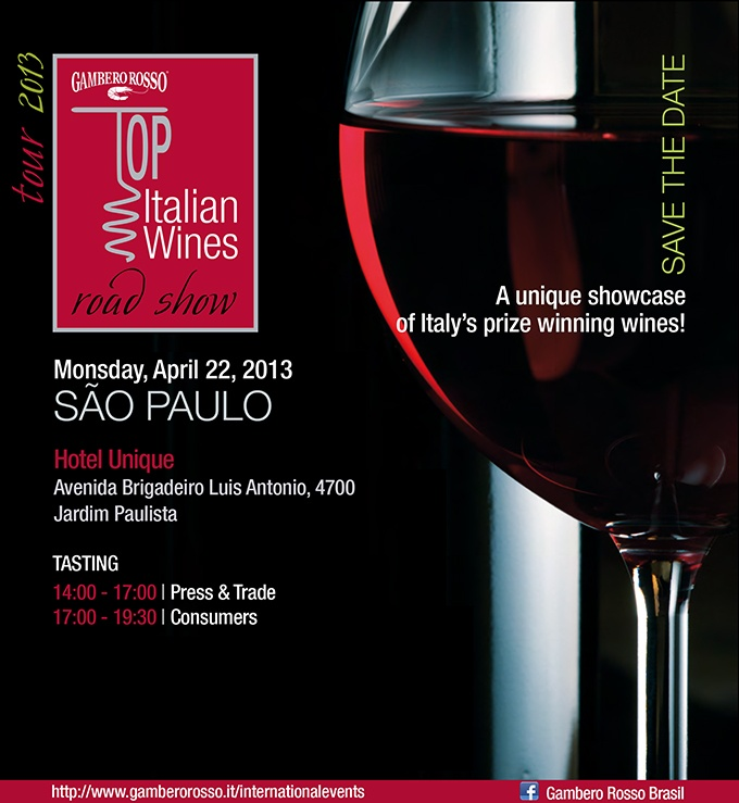 Argiolas meets Brasil: taste our wines in Sao Paulo today on occasion of Gambero Rosso Roadshow 2013