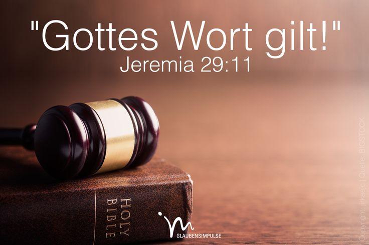 """""""Denn ich allein #weiß, was ich mit euch #vorhabe: Ich, der #Herr, habe #Frieden für euch im #Sinn und will euch aus dem #Leid #befreien. Ich gebe euch wieder #Zukunft und #Hoffnung. Mein #Wort gilt!"""" #Jeremia 29:11 #glaubensimpulse"""