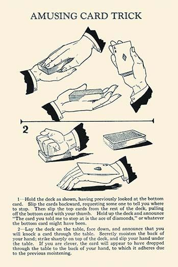A magic trick direct from the master himself, Harry Houdini, in a book published posthumously by his estate.