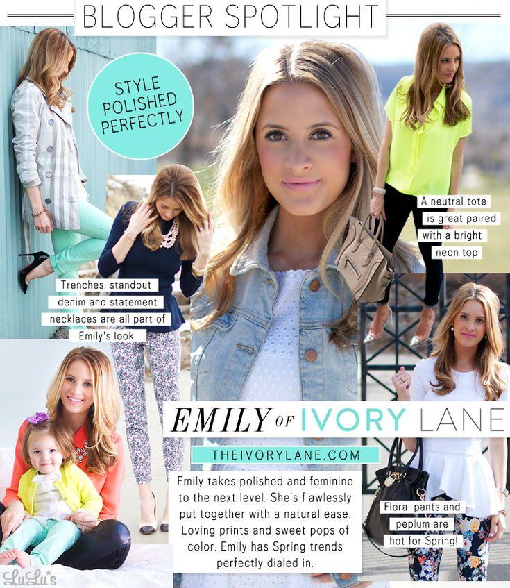 Blogger Spotlight: Emily of The Ivory Lane