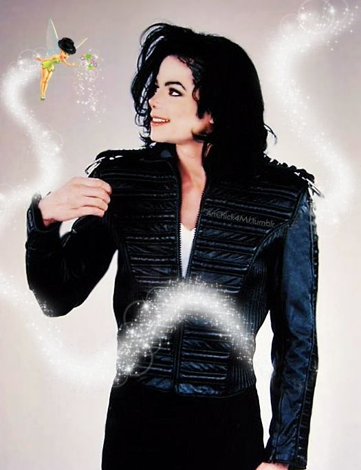 ♥ Michael Jackson ♥ - I've seen a similar one to this before but in this one Tinkerbell is wearing a Fedora - I