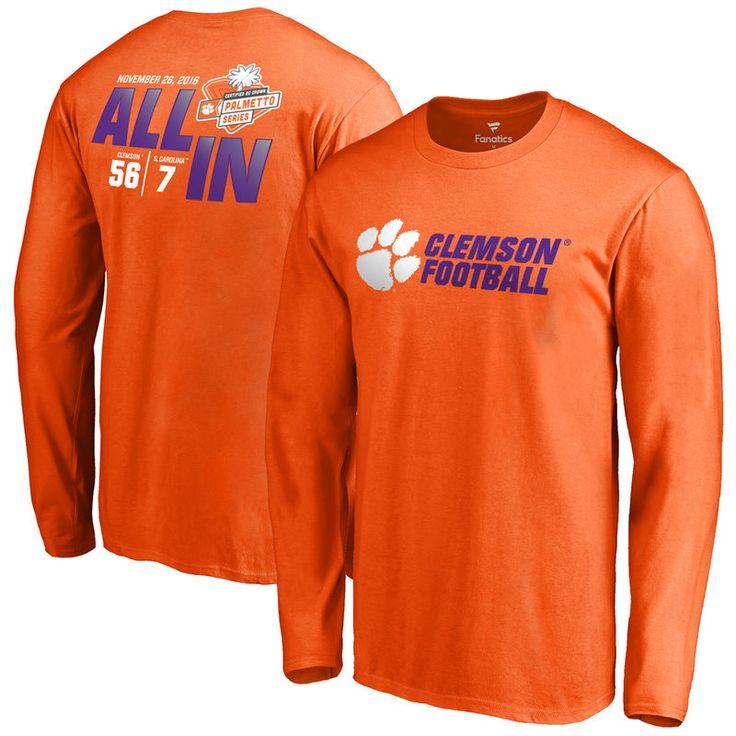 Clemson Tigers vs. South Carolina Gamecocks Fanatics Branded 2016 Score Long Sleeve T-Shirt - Orange