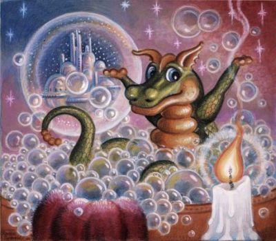 Randal Spangler Murals   Bubble Fantasy Mural - Randal Spangler  Murals Your Way