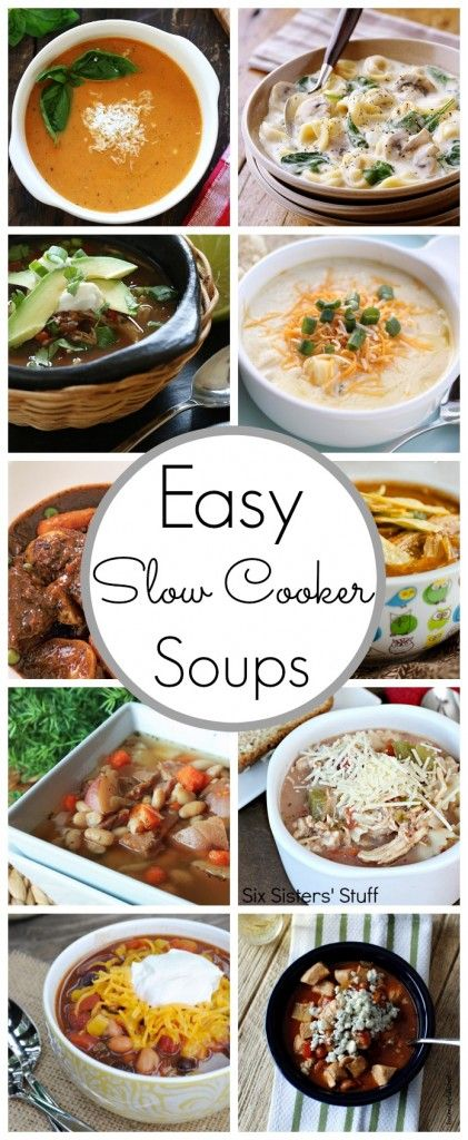 Slow Cooker Soup Recipes - http://www.classyclutter.net #soup #recipes #lunch #recipe #easy