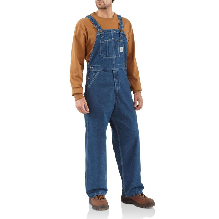 Washed Denim Bib Overalls - The Brown Duck