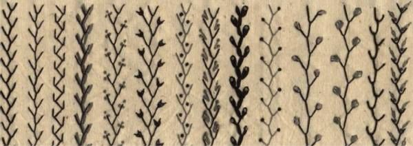 All embroidery stitches fall into one of three stitch groups: straight stitches, looped stitches, knotted stitches.  This website discusses them.