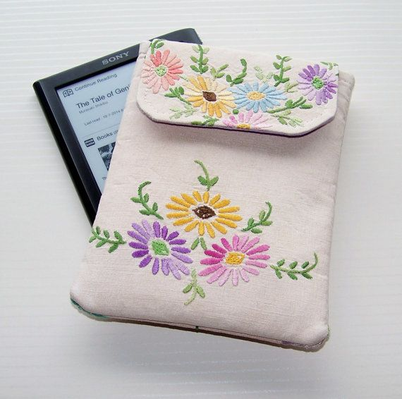 Kindle Paperwhite case Vintage Embroidered by WhimsyWooDesigns, £17.50
