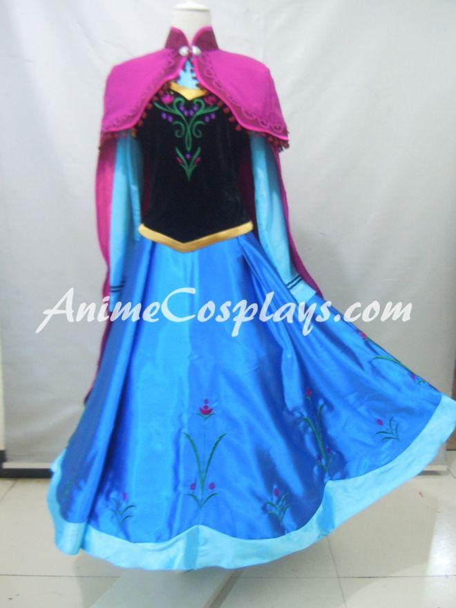 Disney Frozen Anna Dress Anna Cosplay Costume Dress Halloween Dress Christmas Party Dress