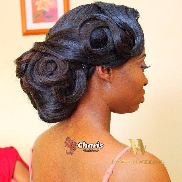 Nigerian wedding black bridal hair ideas and inspiration 46