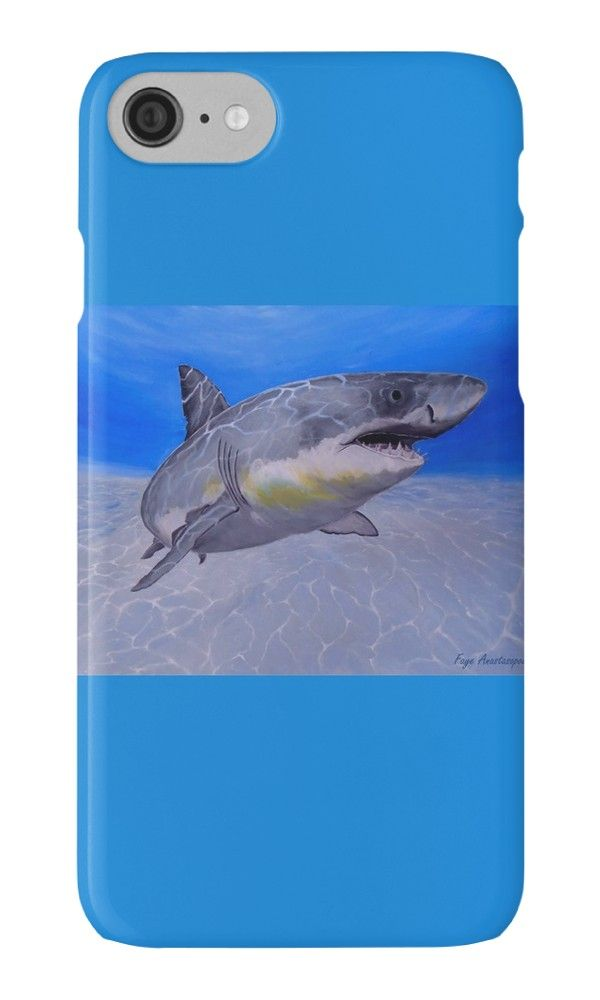 IPhone Case,  aqua,blue,turquoise,cool,beautiful,fancy,unique,turquoise,trendy,artistic,awesome,fahionable,unusual,accessories,for sale,design,items,products,gifts,presents,ideas,shark,ocean,wildlife,redbubble