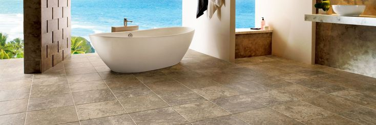 Modern Bathroom with Engineered Tile D4311 - Armstrong Flooring