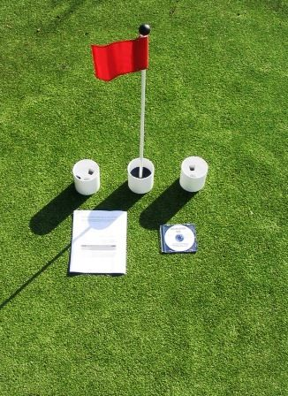 practice putting green accessory kits for golf putting green