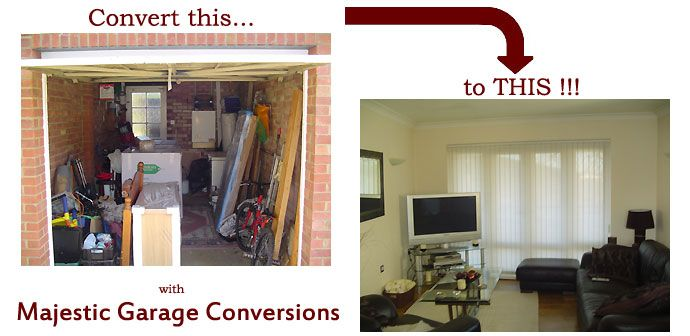 Turn Garage Into Living Space Before And After Photos Garage Conversions Covering Milton