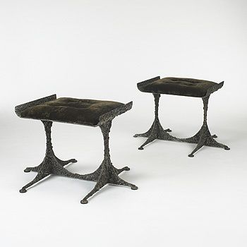 100: Пол Эванс / PE-112 стул, пара <Современный + Современный дизайн, 28 марта 2006 <Аукционы   Райт: Аукционы искусства и дизайна