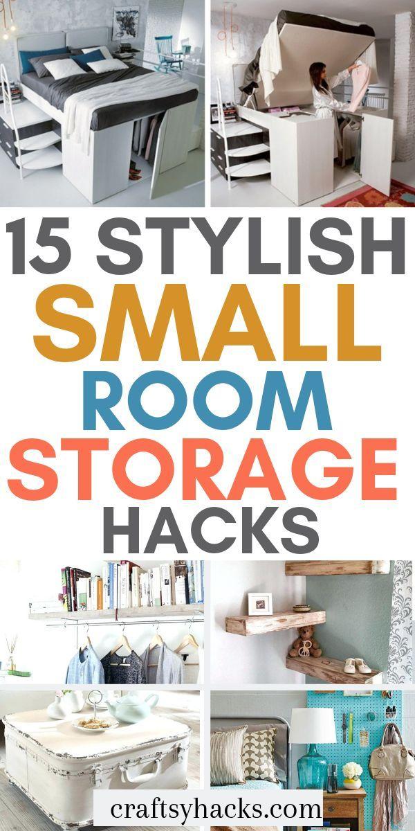 15 Stylish Small Room Storage Hacks Storage Room Organization