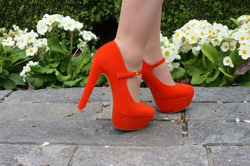 Introducing the Orange Mary Janes Of Powerful Excellence!