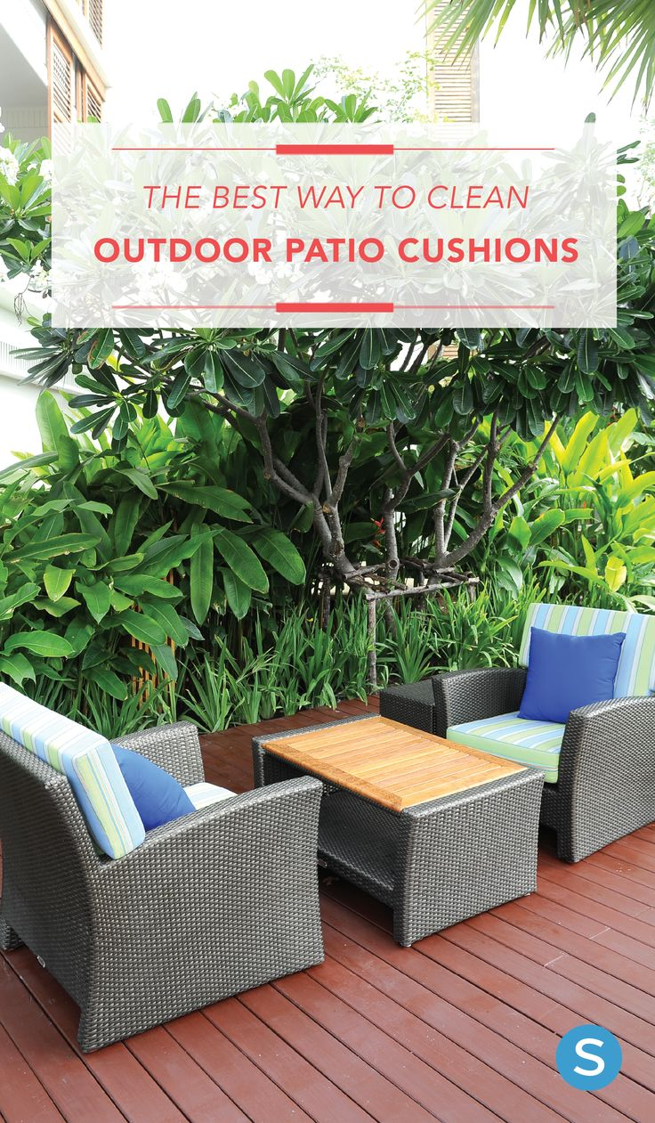 Tips To Clean Outdoor Porch Cushions. Http://simplemost.com/the
