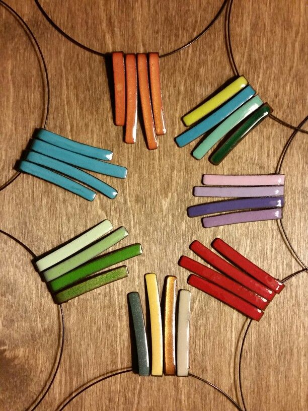 Delicious colors! Stix necklaces by Karen Smith Metalwear www.ksmetalwear.com