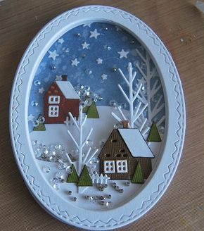 Hi folks...after mentioning in a previous post that the Tim Holtz/Sizzix Stitched Ovals Thinlits would be great for making Shaker Ornaments,...