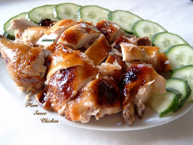 Plum Sauce Roast Chicken | For Happy Tummies | Pinterest