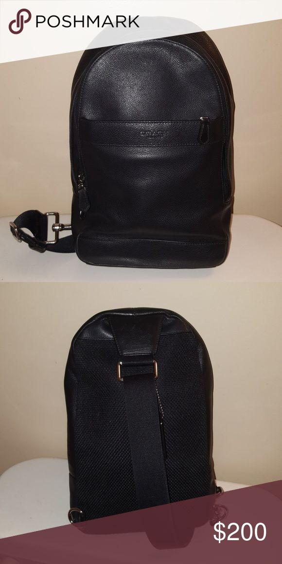 Coach Bag Mens messenger bag. This bag is gently used and authentic in which it was purchased from the store.The leather is very nice and you can tell its great quality by just looking at it! Coach Bags Messenger Bags